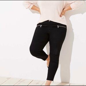 NWOT Loft Plus modern skinny black jeans size 24